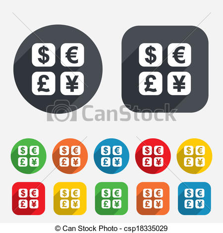 Vector Illustration of Currency exchange sign icon. Currency.