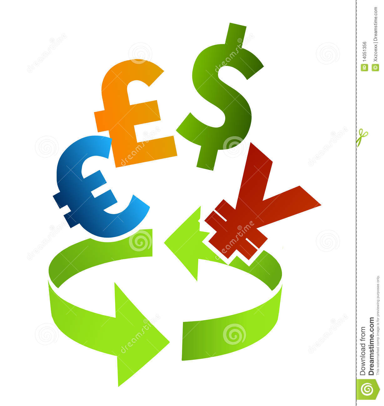 Currency Converter Clip Art Royalty Free Stock Image.