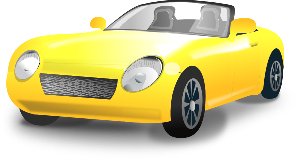 Clipart convertible car.