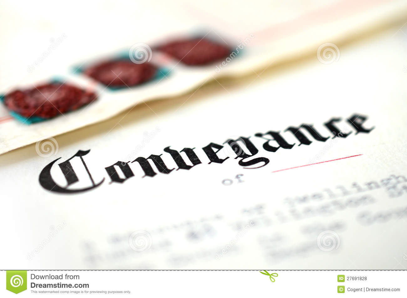 Conveyance Document Royalty Free Stock Photos.