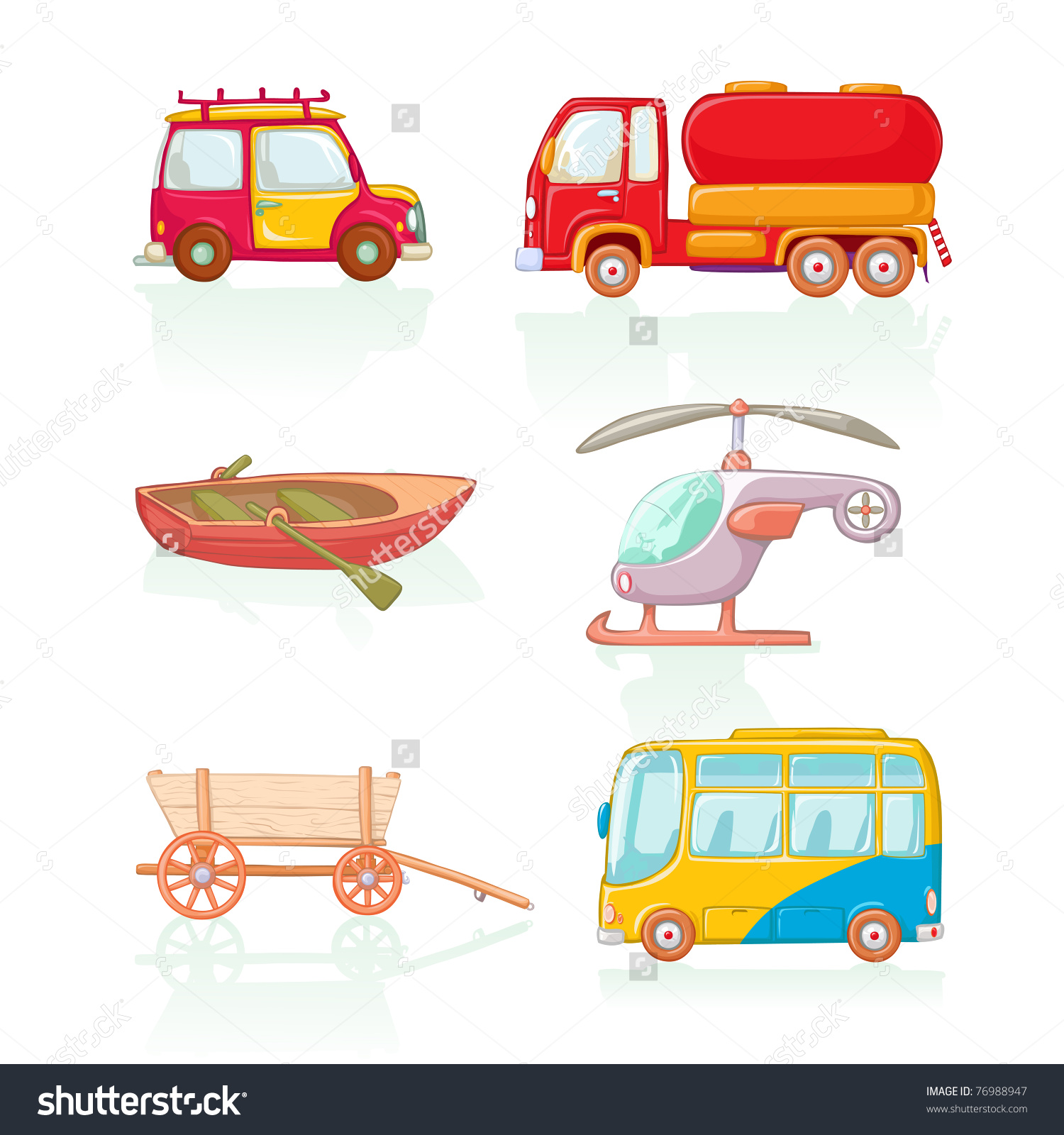Vector Illustration Means Conveyance Cartoon Concept Stock Vector.