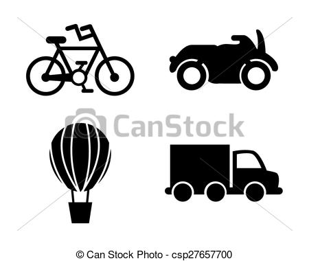 Vector Clipart of conveyance icon design, vector illustration.