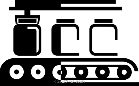 conveyor belt Royalty Free Vector Clip Art illustration.