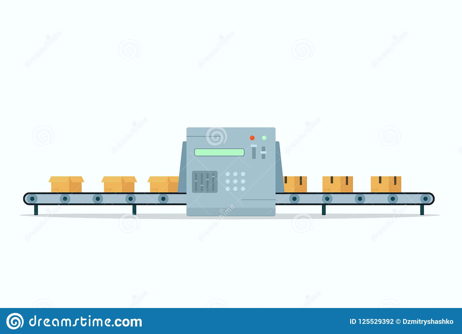 Conveyor Belt icon stock vector. Illustration of automatic.