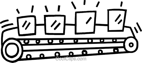 conveyor belt Royalty Free Vector Clip Art illustration.