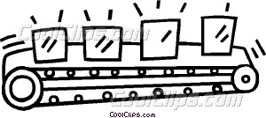 conveyor belt Vector Clip art.