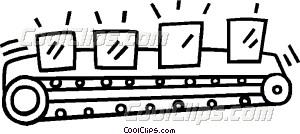 conveyor belt Vector Clip art.