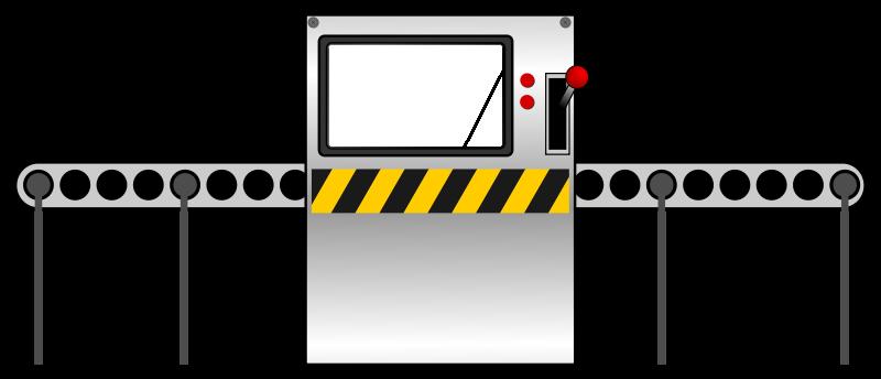 Factory conveyor belt clipart.