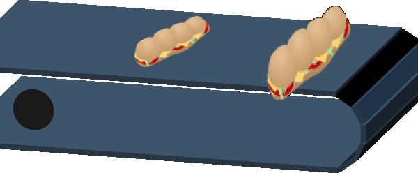 Conveyer Belt With Subs2 Clip Art at Clker.com.