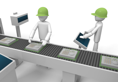 Factory conveyor belt clipart.