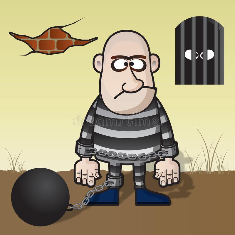 Convict Stock Illustrations.