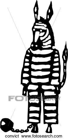 Convict Clip Art.