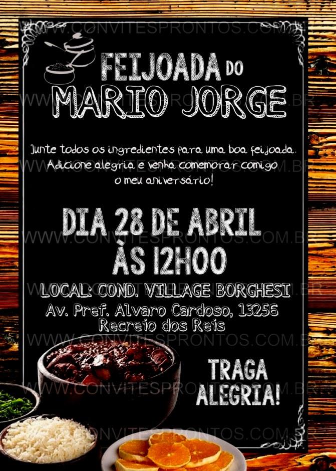 Criar Convite Para Feijoada Galeria Digital Tema R 16 00 Em Mercado.