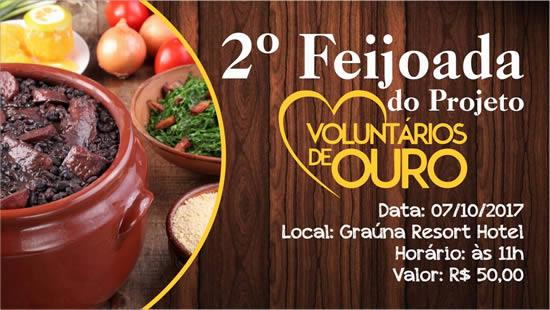 Ouro Preto: Projeto Voluntários de Ouro realiza 2ª Feijoada Beneficente.