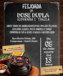 Convite Para Feijoada Com Grupo no Mercado Livre Brasil.