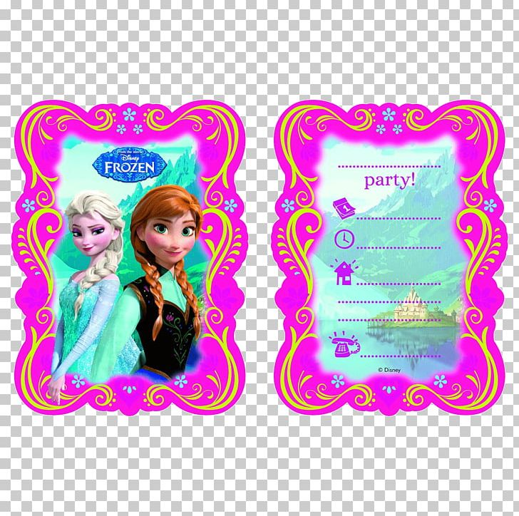 Frozen Film Series Elsa Olaf Convite Kinderfeest PNG.