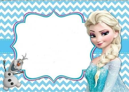 Resultado de imagen para PINTEREST convite frozen.