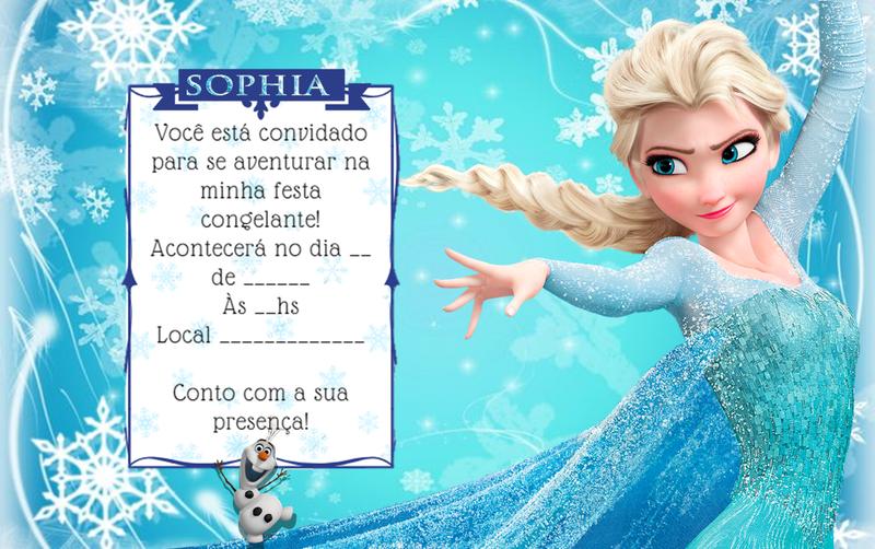 Convite digital Frozen.
