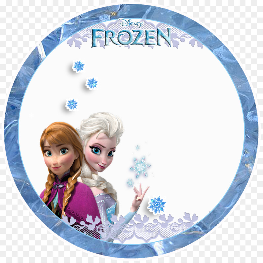 Elsa Frozen Anna Olaf Convite.