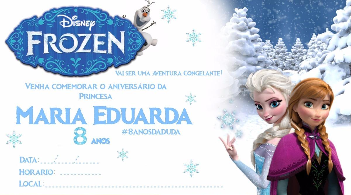 Arte Convite Digital Frozen.