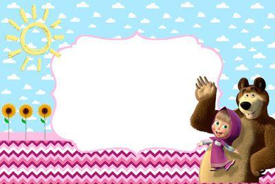 convite masha e o urso para editar convite masha e o urso.