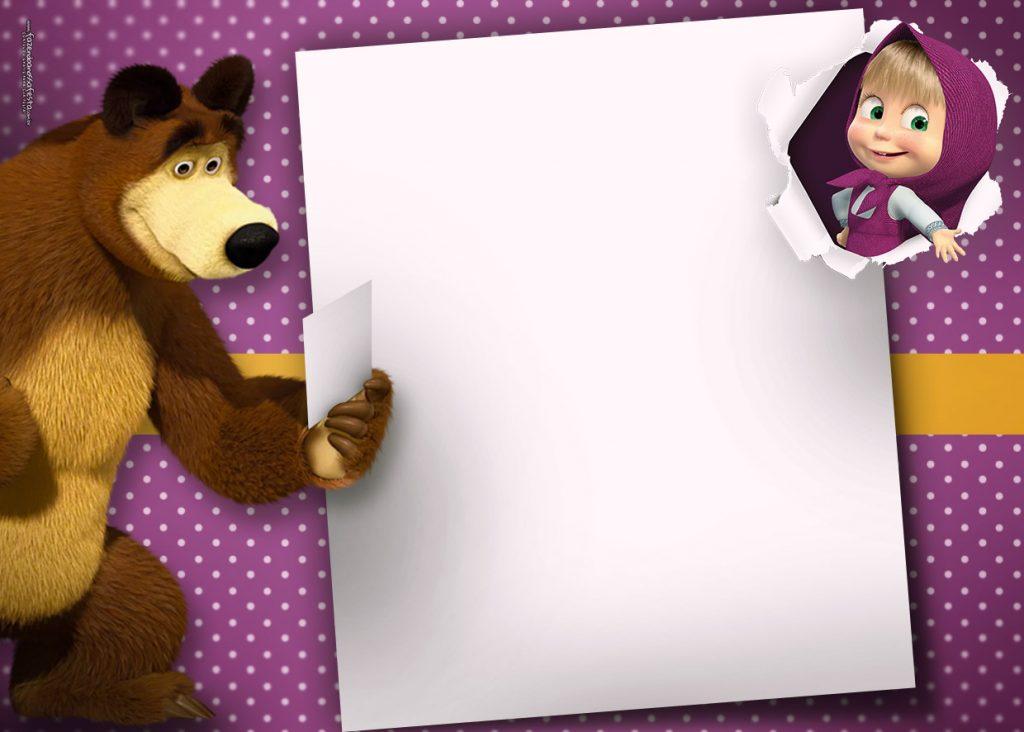 Convite Masha e o Urso: 30 ideias para você se inspirar!.
