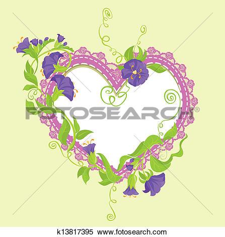 Clipart of Convolvulus Flowers bouquet k13817395.