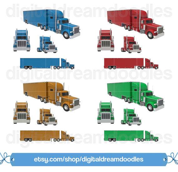Convoy Trucking Clip Art.