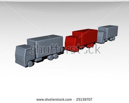 Truck Convoy Stock Photos, Royalty.