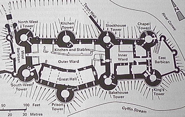 Midieval Castle Outline Clip Art.