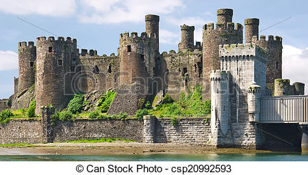 Stock Photographs of Conwy Castle Wales.
