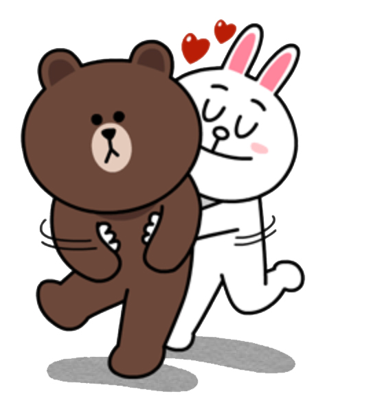Line cony brown character clipart.