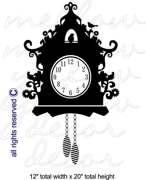 Cuckoo clock decal.