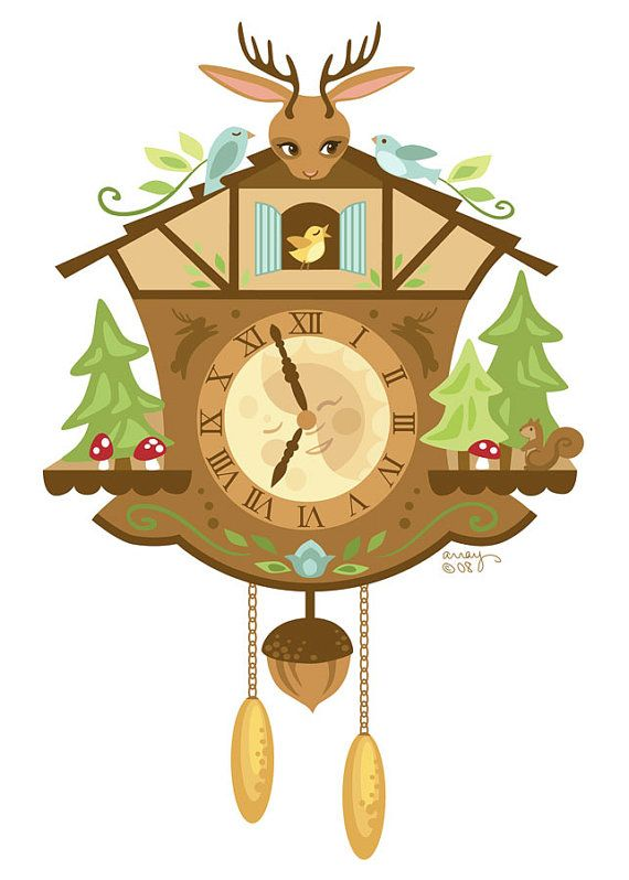 Woodland Cuckoo Clock Hand Embroidery Art PDF Pattern.