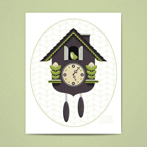 Cuckoo Clock Print.