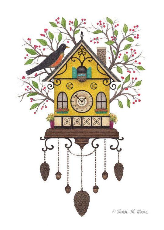 Cuckoo Clock Drawing at GetDrawings.com.