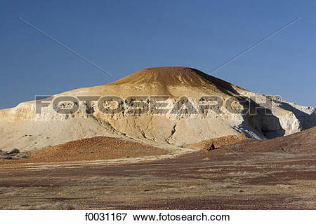 Picture of South Australia, near Coober Pedy, the breakaways, mesa.