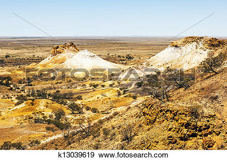 Stock Photograph of Breakaways Coober Pedy k13039619.