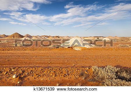 Stock Photograph of Coober Pedy k13671539.