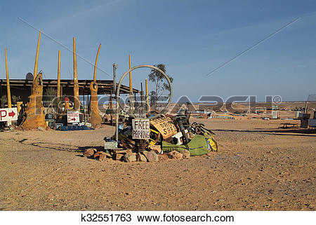 Stock Photo of Coober Pedy k32551763.