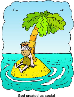 Stranded island clipart.