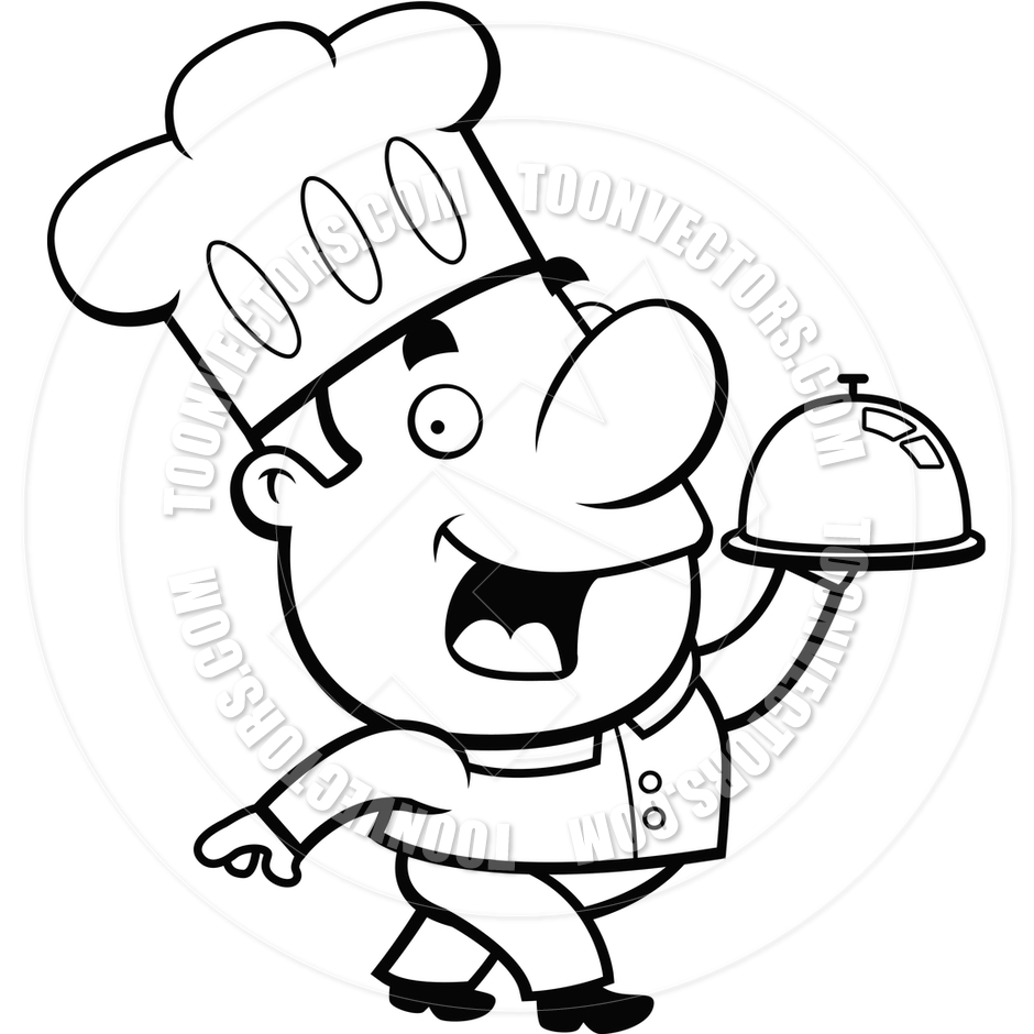 Chef clipart black and white 6 » Clipart Station.