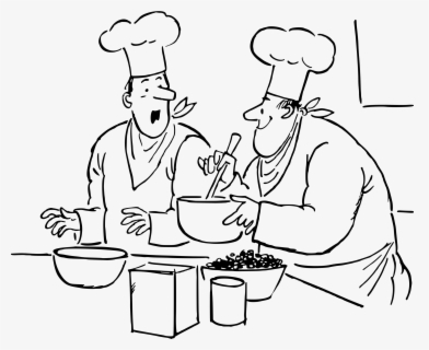 Free Chef Black And White Clip Art with No Background.