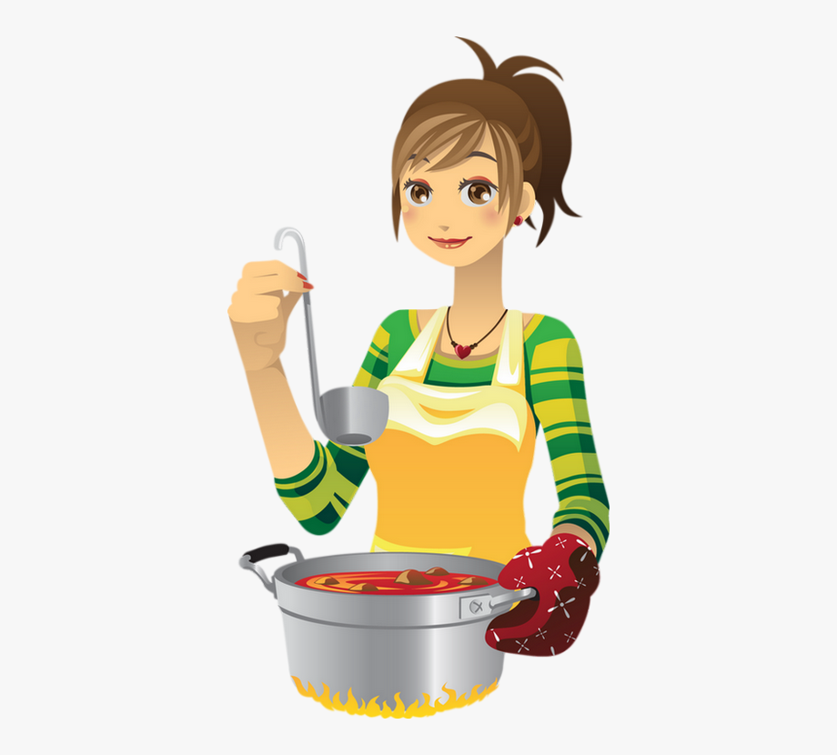 Animated Person Cooking Food, Cliparts & Cartoons.