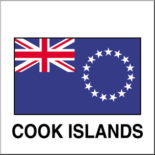 Clip Art: Flags: Cook Islands Color.