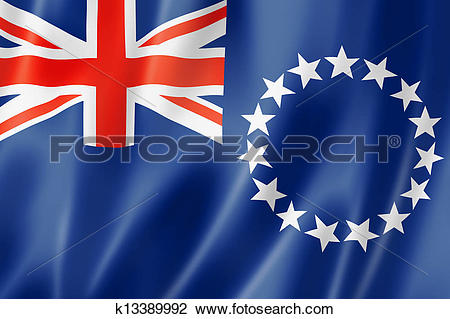 Clip Art of Cook Islands flag k13389992.
