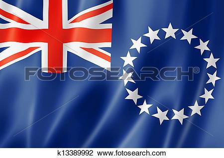 Clip Art of Cook Islands flag k13389992.