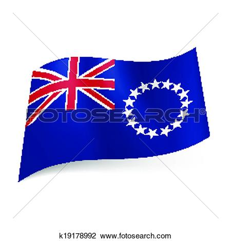 Clipart of Flag of Cook Islands k19178992.