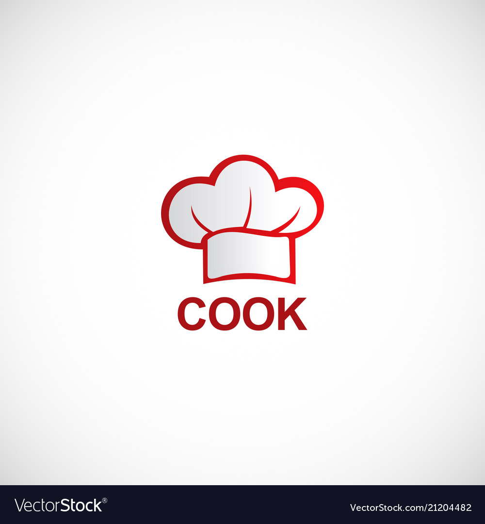 Cooking hat chef logo.