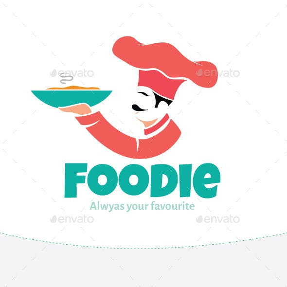 Flat Cook Logo Design Graphics, Designs & Template.